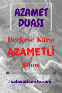 Azamet Duası