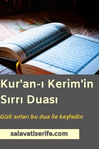 Kur'an-ı Kerim'in Sırrı Duası