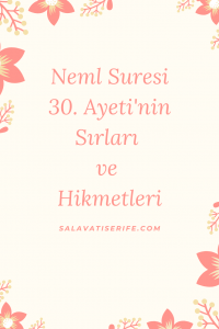 Neml Suresi 30. Ayeti'nin Sırları ve Hikmetleri